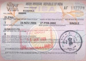 Электронная виза в Индию